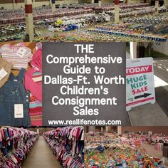 Guide to DFW Consignment Sales, includes a calendar of all the sale dates, reviews of each sale, tips for shopping and consigning. Useful resource!