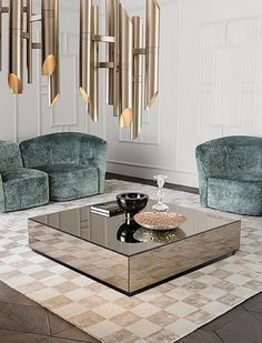 In gold or marble, round or square, get the inspiration you need for your decoration projects! We selected the best coffee and side tables for your living room. #tabledesign #livingroom #homedecor