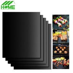 Teflon Non-stick Reusable BBQ Grill Mat Sheet Baking Mat for Barbecue Sheet Cooking Outdoor Barbeque BBQ Accessories 40X33CM #clothing,#shoes,#jewelry,#women,#men,#hats,#watches,#belts,#fashion,#style