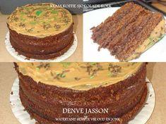SJOKOLADE KOEKE Pizza Recipes, Yummy Recipes, Delicious Desserts, Cake Recipes, Yummy Food, South African Recipes, Ethnic Recipes, Flan Cake