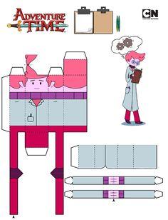 Resultado de imagem para papercraft hora de aventura princesas