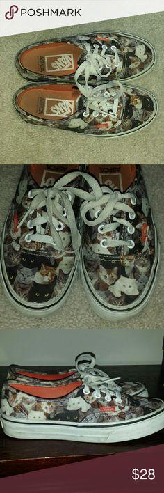 VANS ASPCA CAT KITTEN SHOES 6 WOMEN Great condition.just slight wear. Size 6 in women's.  4.5 in mens Vans Shoes