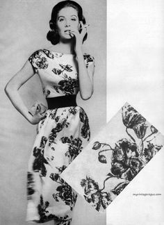 Harper's Bazaar January 1957    Suzy Parker wearing a dress by Harvey Berin photo by Richard Avedon