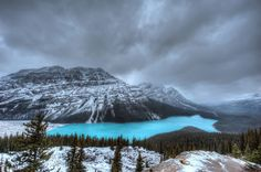 It looks like there is no one else in the world in this photo of Lake Peyto, Canada.