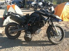 Bmw F800GS - Day 2 campsite, 2012 GS Trophy
