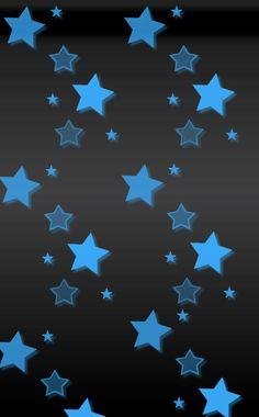 Stars Blue Black Wallpaper