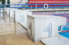 Swimming pool Elana (MOSiR Toruń) Mosaics projects by Jerzy Brzuskiewicz and Izabela Kotlarczyk Toruń, 1976 ul. Bażyńskich 9/17 Photographer Tytus Szabelski  #architecture #polish #mosaic #swimmingpool #Toruń #interiorarchitecture #art