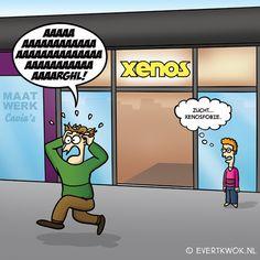 512 Fobie - Evert Kwok Cartoons - droge humor, woordgrappen & bananen