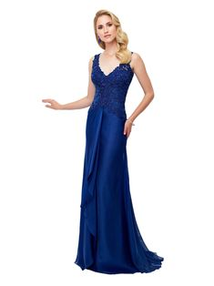 Buy the P by CCSALE0609 at CoutureCandy.com, shop CCSALE0609 Lace Illusion A-Line Gown in Sapphire 117909 now for attractive discounts.