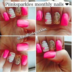 Piinksparkles monthly nails!! I luv these nails!!