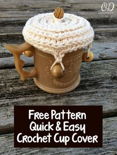 Crochet Cup Cover | Free Pattern @OombawkaDesign