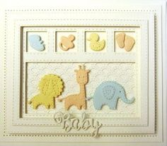 Sue Wilson Dies - Shadow Box Collection - Scalloped Lattice Frames - Set B Baby Boy Cards, New Baby Cards, Congratulations Baby, Spellbinders Cards, Sue Wilson, Thing 1, Baby Christening, Kids Cards, Box Frames