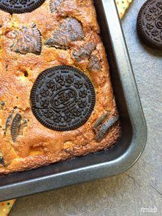 Brownie de chocolate blanco y oreos Oreos&white chocolate brownie
