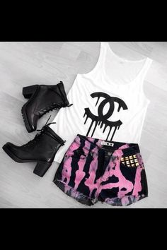 Cute punk outfit