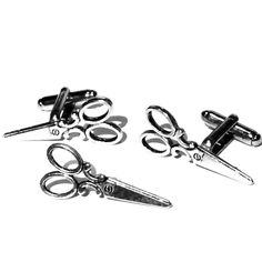 Silver Shears Cufflinks & Tie Tack- Mens Handcrafted Scissors Hair Cut Stylist Barber Cuff Links Set- Guys Prom Groom Wedding, Mans Gift from my Etsy shop https://www.etsy.com/listing/268208339/sale-silver-scissors-cufflinks-tie-tack