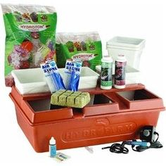 Hydrofarm Emilys Hydroponic Garden System by Hydrofarm. $89.77. Lawn Care. EMSYST. Hydrofarm. HYFEMSYST Features: -2 Gallon Reservoir.-Air Pump & Tubing, Seed Starter Cubes.-Nutrient pH Test Kit.-Growing Medium + Six 6'' x 6'' x 7'' Planters.-Formed Cover.-Water level indicator.-Illustrated Instructions.-Material: plastic.-Simple, easy to use.-A tremendous harvest of vegetables, flowers.-Essential for all hydroponic system applications.