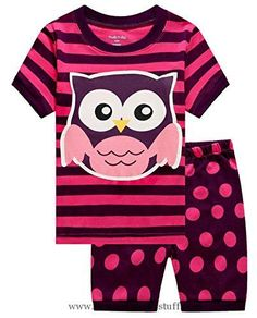 Baby Girl Clothes Family Feeling Owl Baby Girls' Sleepwear Infant Pajamas Set Newborn Pjs Size 6-12Months