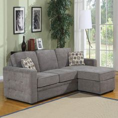 Best Sectional Couches for Small Spaces | Overstock.com might work in cabin upstairs