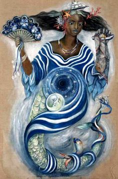 Yemaya- September 7th is the Lucumi (Santeria) feast day for this Orisha