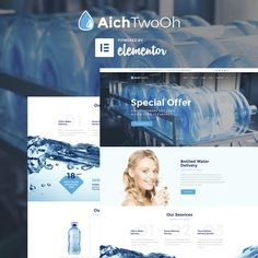 A fully responsive Water Delivery WordPress Theme with a clean code, intuitive installation, and a lifetime support. Bottled Water Delivery, Water Delivery Service, Restaurant Delivery, Security Logo, Water Company, Free Website Templates, Wordpress Template, Best Wordpress Themes, Plants