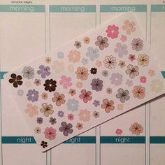 Pastel Flower Planner Stickers - set of 64 - for your Erin Condren Life Planner sticker, scrapbooking, calendar or paper planning stickers
