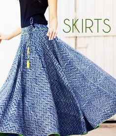 An excellent pick for fashionable women are these multicoloured wrap-around skirt. The eye-catching Bagru, well known for natural dyeing… Indian Skirt, Indian Dresses, Indian Outfits, Indian Attire, Indian Wear, Long Skirt And Top, Wrap Around Skirt, Long Skirts For Women, Indian Designer Wear