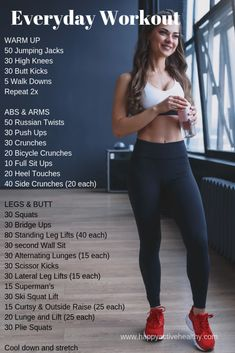 Get a full body workout at home. These are perfect 30 day fitness challenges. For women and de entrenamiento de fitness zuhause Full Body Workout Routine, Full Body Workout At Home, At Home Workout Plan, Workout Routines, Gym Workout Plans, At Home Workouts For Women Full Body, Workout Plans For Women, Exercise At Home, Full Body Workout No Equipment