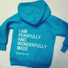 fearfully and wonderfully made hoodie par bchildrenswear sur Etsy, $36,00