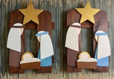Wooden Christmas Trees, Christmas Nativity, Christmas Decorations, Wood Projects, Woodworking Projects, Wooden Animals, All Things Christmas, Holiday Crafts, Quilts