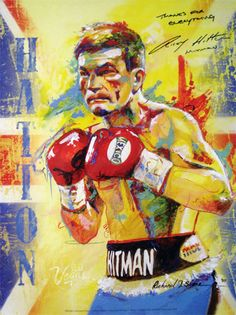 RICKY HATTON LIMITED EDITION ART FIGHT POSTER