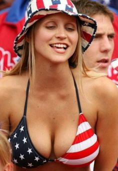 Crazy Fans World Cup Soccer 2010 part Hot Football Fans, Football Girls, Soccer Fans, Football Match, American Pride, American Women, American Girl, American Spirit, Hot Fan