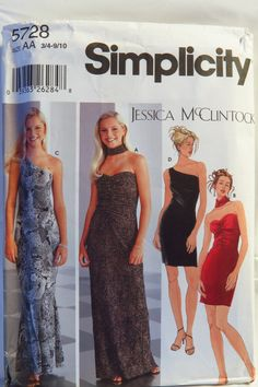 Simplicity 5728 Juniors' Knit evening Dresses in Two Lengths