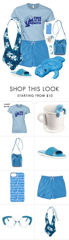 """""""Man Up!"""" by rachael-aislynn ❤ liked on Polyvore featuring Mansur Gavriel, Dr. Martens, Marc by Marc Jacobs, Penguin, Karen Walker and Mikoh"""