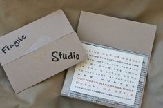"""ETSY:  kreativees shop...""""Living out of Boxes"""" sample moving announcement"""
