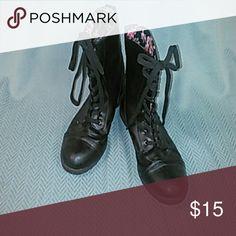 Black lace up boots Black lace up boots size 9 Shoes Lace Up Boots