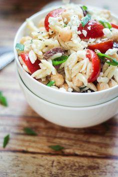 Mediterranean Orzo Pasta Salad - the best pasta salad you'll ever make!