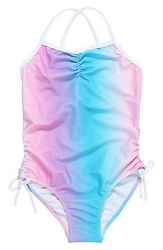 Stella Cove 'Rainbow' One-Piece Swimsuit (Big Girls)