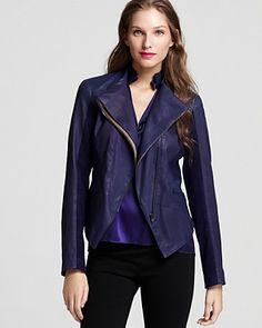 Elie Tahari Gretta Leather Jacket   Bloomingdale's