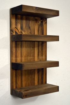 DIY furniture A beautiful accent for your bathroom. It mounts on the wall of your bath or wash room Wooden Projects, Furniture Projects, Wood Furniture, Wood Crafts, Pallet Shelves, Wood Shelves, Bathroom Shelves, Bathroom Wall, Small Bathroom