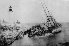 The wreck of the Annie C. Maguire ranks among the most famous Maine shipwrecks for one reason. It occurred right next to one of the most popular lighthouses on the East Coast, Portland Head Light in Cape Elizabeth, Maine. Christmas Eve 1886.