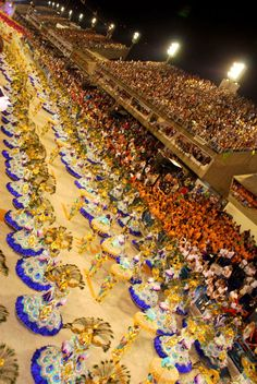 Samba School Parade in Sambadrome - Rio de Janeiro, Brazil