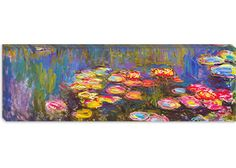 Water Lilies by Claude Monet (Panoramic) Canvas Print