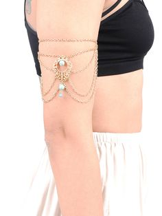 Esliz Chain Arm Cuff.