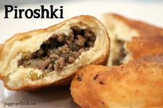 Get a taste of Russia and make some delicious Piroshki with your kids! Piroshki are basically small Russian pastries filled with finely . Russian Pastries, Russian Dishes, Ukrainian Recipes, Russian Recipes, Ukrainian Food, Beef Recipes, Cooking Recipes, Dishes Recipes, Curry Recipes