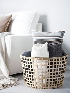 Make sure comfort is close by for guests with handmade GADDIS baskets.