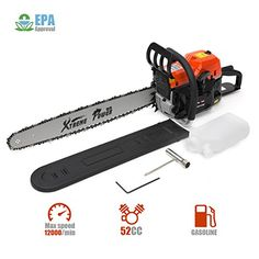 The XtremepowerUS HP Gas Chainsaw will allow you to cut through stubborn trees fast and effortlessly. It features an anti-kickback chain to provide a safer alternative for novice users as well as Chainsaw Mill Plans, Gas Chainsaw, Chainsaw Bars, Air Lounger, Wood Cutter, Tree Logs, Tree Felling, Logging Equipment