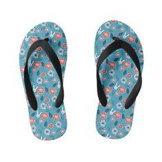 1bf14aa87e6a74 Kawaii Usagi Floral Pattern Kid s Flip Flops  kidsflipflops  flipflops   thongs  kids