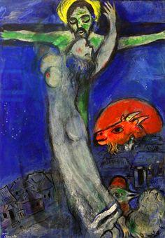 https://flic.kr/p/rnXhNU | Crucifixion under a Blue Sky with Red Goat | Crucifixion under a Blue Sky with Red Goat Christ au ciel bleu et à la chèvre rouge Private Collection (Exhibition Marc Chagall, February-June 2015, Brussels, Royal Museum of Fine Arts)