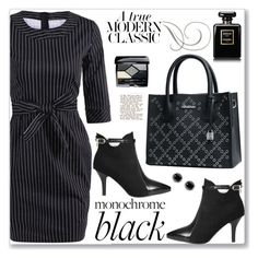 """""""Modern Classic Work Wear"""" by jecakns ❤ liked on Polyvore featuring Thomas Sabo, Jil Sander, Chanel, Christian Dior, modern, WorkWear, allblack and rosegal"""