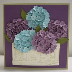 Because I care and Boho blossom punch Stampin' Up! Card Making Inspiration, Making Ideas, Flower Cards, Paper Flowers, Punch Art Cards, Copics, Creative Cards, Greeting Cards Handmade, Diy Cards